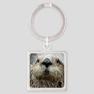 Sea Otter 11 Square Keychain
