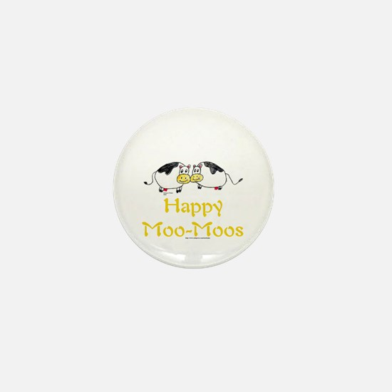 Happy Moo-Moos Mini Button