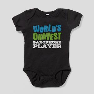 World's Okayest Saxophone Player Baby Bodysuit
