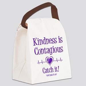 CONTAGIOUS KINDNESS Canvas Lunch Bag