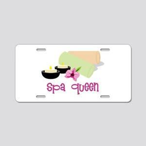 Spa Queen Aluminum License Plate