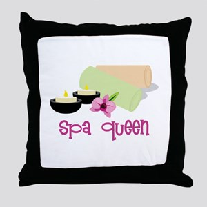 Spa Queen Throw Pillow