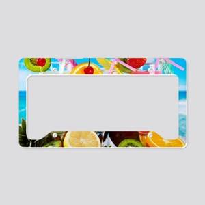 Exotic Summer Cocktails License Plate Holder