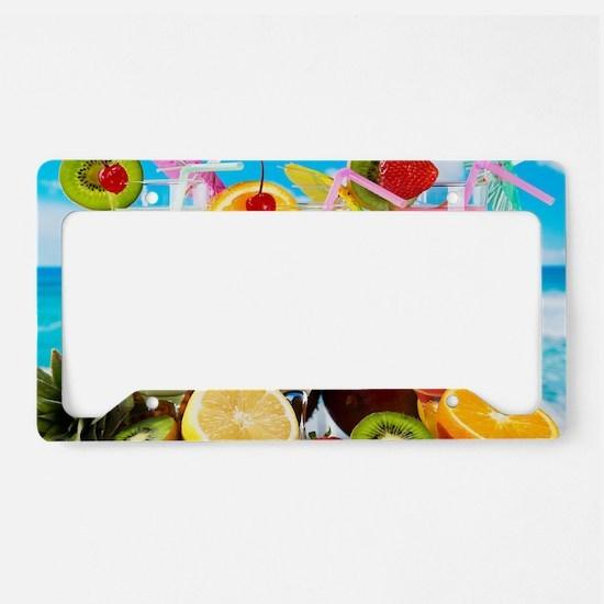 Exotic Summer Cocktails License Plate Holder
