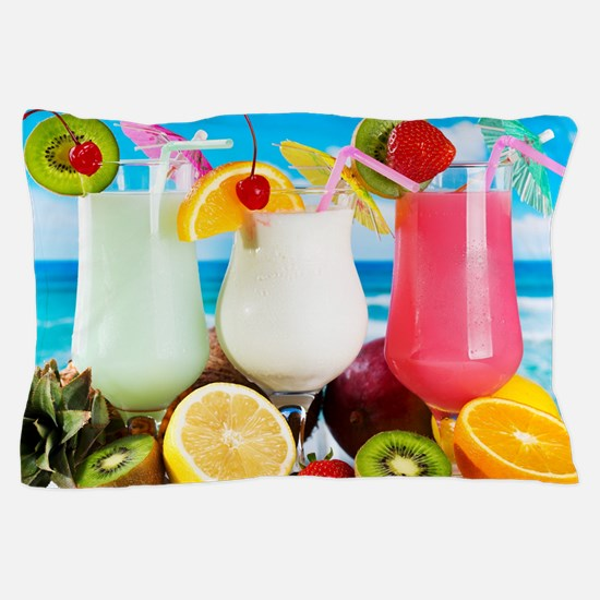 Exotic Summer Cocktails Pillow Case