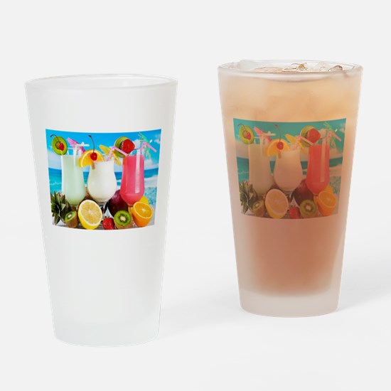 Exotic Summer Cocktails Drinking Glass