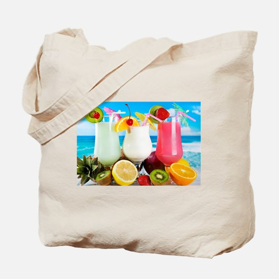 Exotic Summer Cocktails Tote Bag