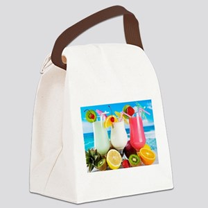 Exotic Summer Cocktails Canvas Lunch Bag