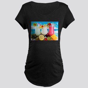 Exotic Summer Cocktails Maternity T-Shirt
