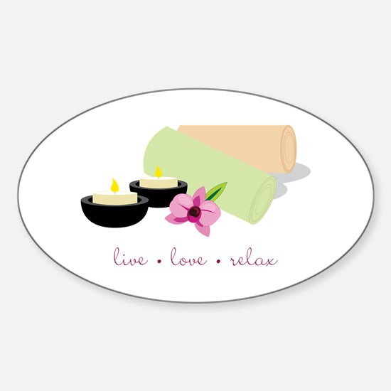 Live Love Relax Decal