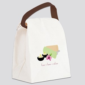 Live Love Relax Canvas Lunch Bag
