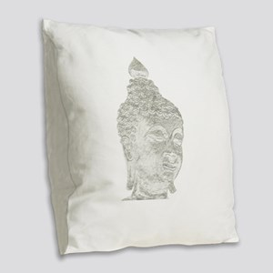 buddha Burlap Throw Pillow