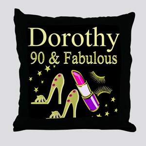 PERSONALIZED 90TH Throw Pillow