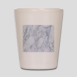Realistic White Faux Marble Stone Patte Shot Glass