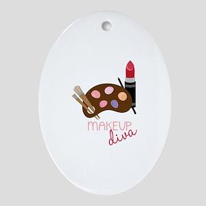 Makeup Diva Ornament (Oval)
