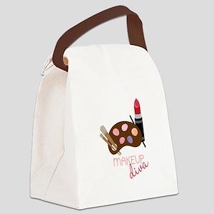 Makeup Diva Canvas Lunch Bag