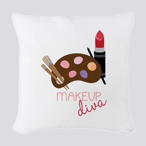 Makeup Diva Woven Throw Pillow