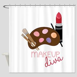 Makeup Diva Shower Curtain