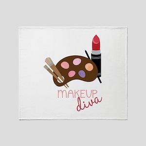Makeup Diva Throw Blanket