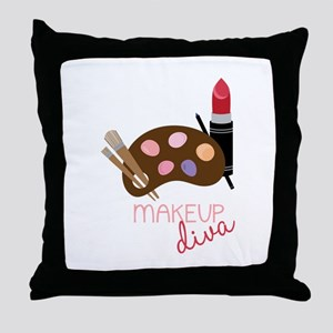 Makeup Diva Throw Pillow