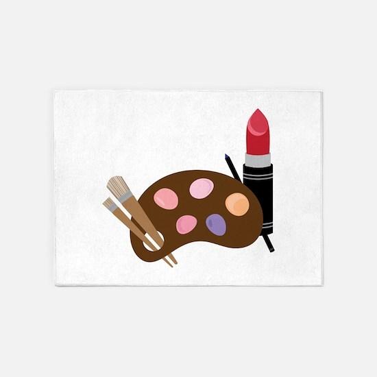 Makeup Pallet 5'x7'Area Rug