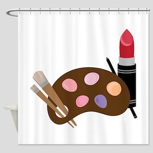 Makeup Pallet Shower Curtain