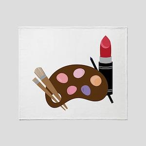 Makeup Pallet Throw Blanket