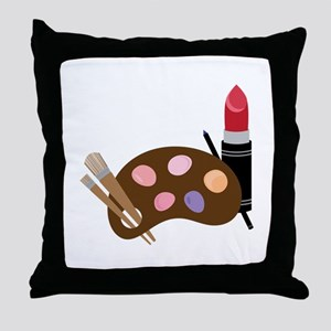 Makeup Pallet Throw Pillow