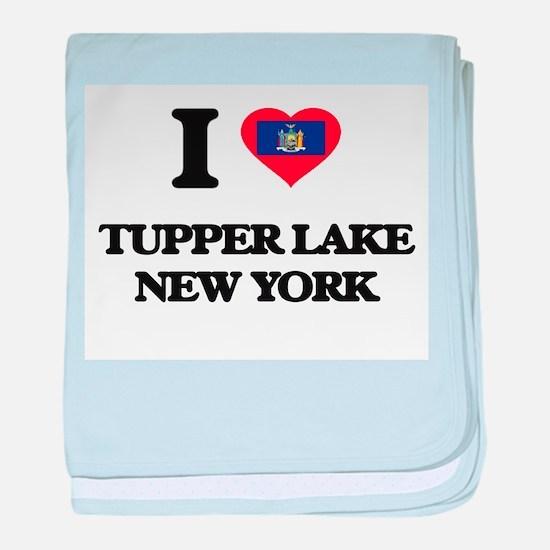 I love Tupper Lake New York baby blanket