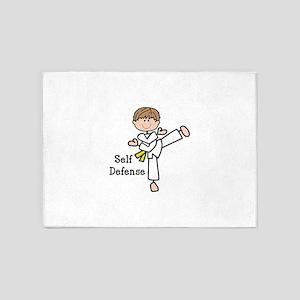 Self Defense 5'x7'Area Rug