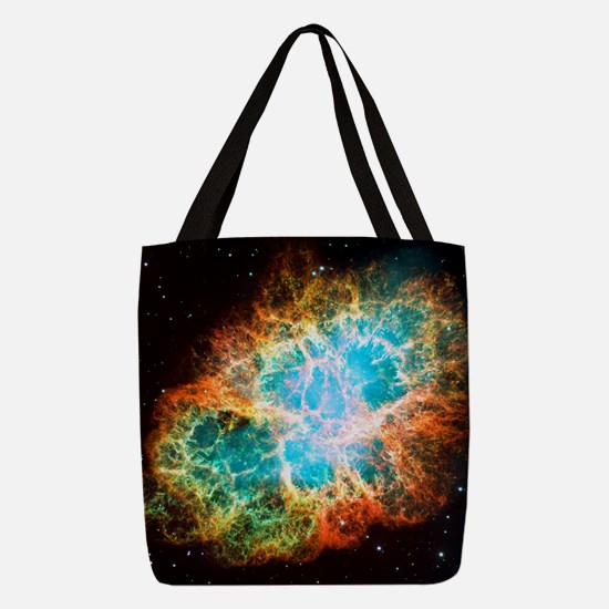Crab Nebula Polyester Tote Bag
