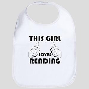 This Girl Loves Reading Bib