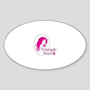 Vintage soul cameo Sticker