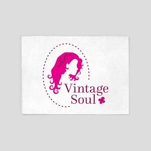 Vintage soul cameo 5'x7'Area Rug