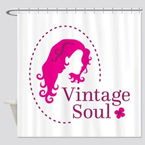 Vintage soul cameo Shower Curtain