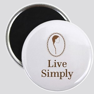 Live simply Magnets