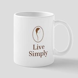 Live simply Mugs