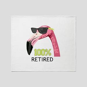 100% Retired Throw Blanket