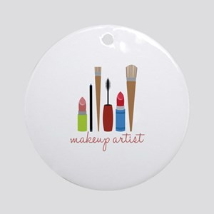 Makeup Artist Tools Ornament (Round)