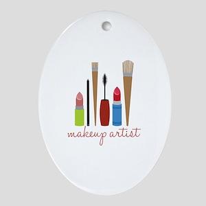 Makeup Artist Tools Ornament (Oval)