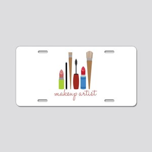 Makeup Artist Tools Aluminum License Plate