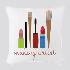 Makeup Artist Tools Woven Throw Pillow