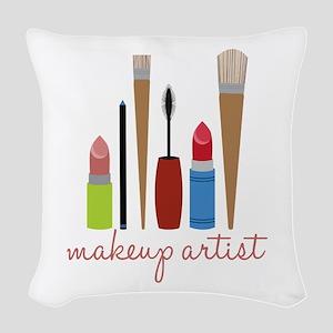 Makeup Artist Tools Woven Throw Pillow