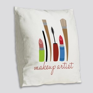 Makeup Artist Tools Burlap Throw Pillow