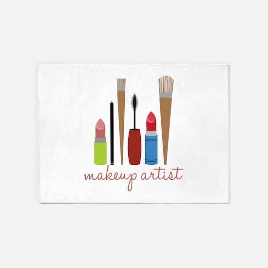 Makeup Artist Tools 5'x7'Area Rug