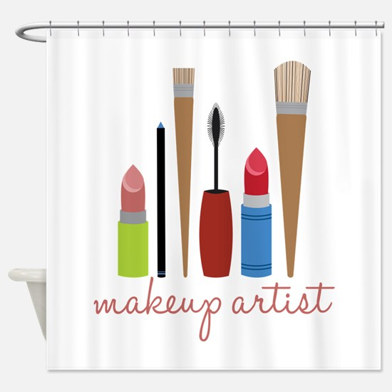Makeup Artist Tools Shower Curtain