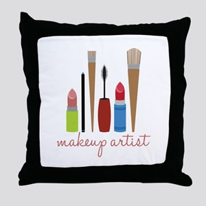 Makeup Artist Tools Throw Pillow