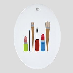 Makeup Tools Ornament (Oval)