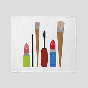 Makeup Tools Throw Blanket