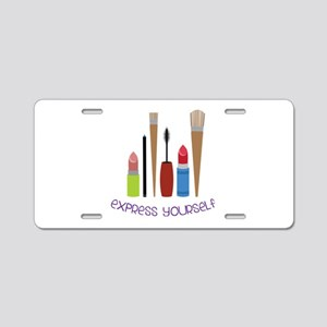 Express Yourself Aluminum License Plate